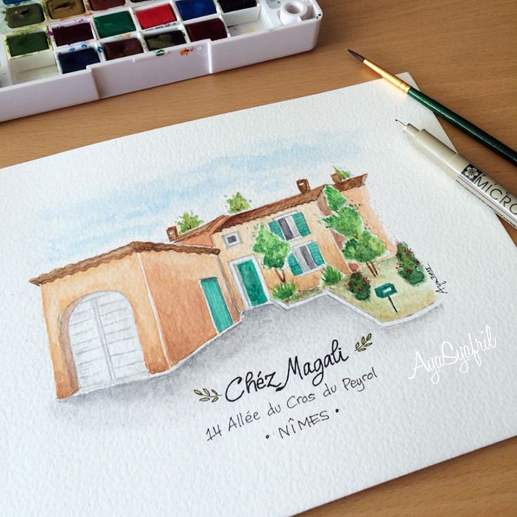 Drawing a friend's house