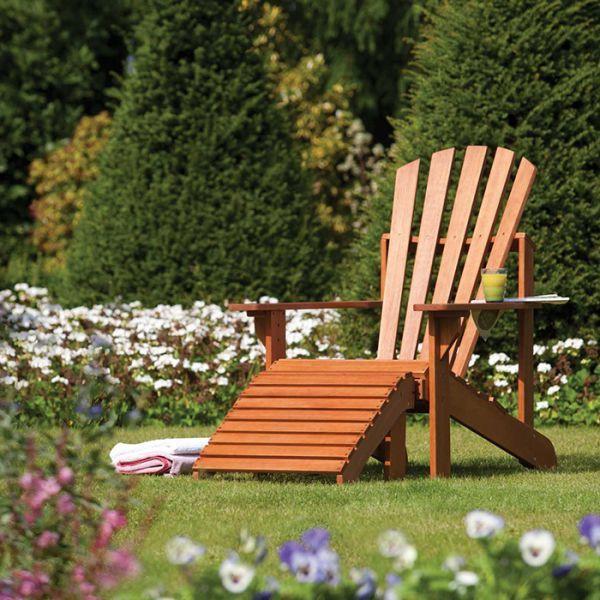 Rowlinson Adirondack Garden Chair Wooden Garden Chairs Garden