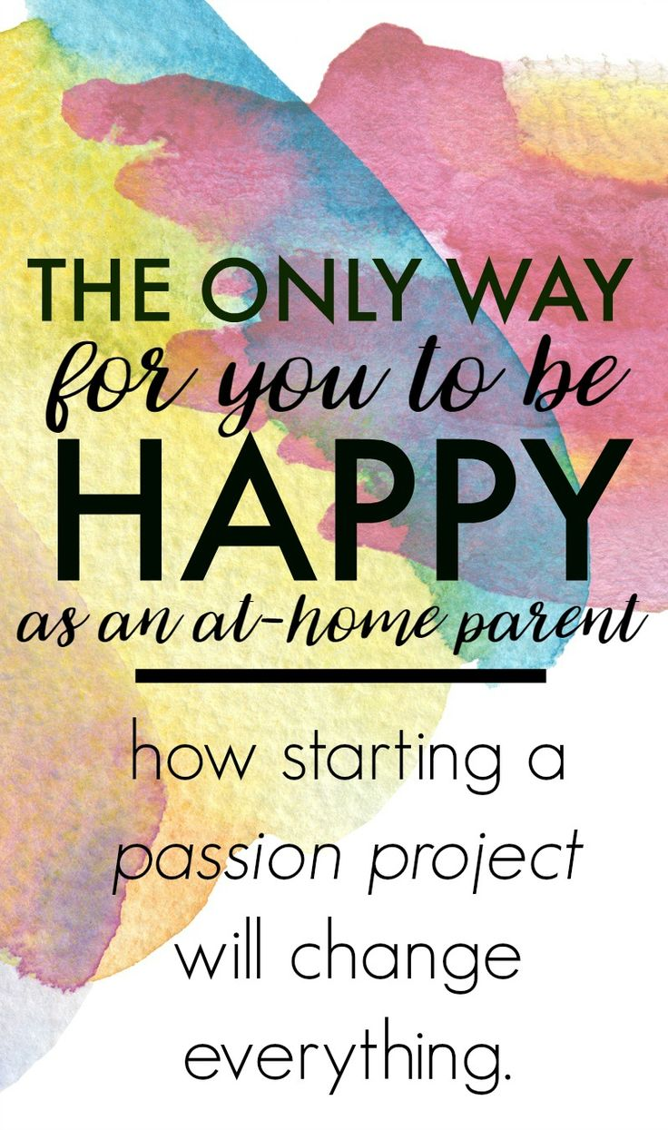 It is possible to be home with the kids full time and still feel happy and productive.  Really!  Let me show you how creating a passion project can change everything and make you that HAPPY MOM you really want to be.  Click through to find out more.