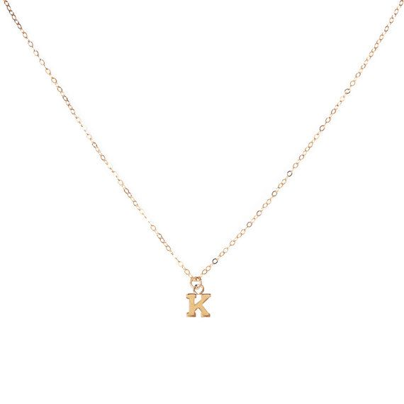 Tiny Letter Pendant Charm Necklace   #gold #14k #delicate #personalized #letters #initial #letternecklace #initialcharm #charm #tiny #plain #thin #tiny #dainty #chain #everyday #simple #minimal #layering #choker #necklace #jewelry #handmade #etsy #instaglam #jewelryaddict #lovegold #jewelryfashion