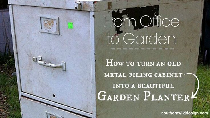 From Office to Garden: Filing Cabinet to Garden Planter - I totally snagged this wonderful project from Carole in Australia who posted her version last week. I...