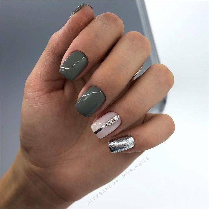 100 Pretty Winter Nail Design Ideas 2019 Winter Nail Designs Pretty Toe Nails Winter Nails