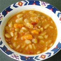 Sopa de habas con verduras