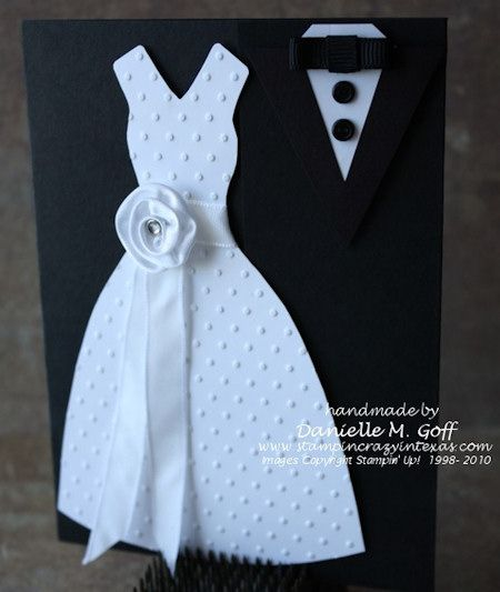 Wedding Dress and Tuxedo Invitations