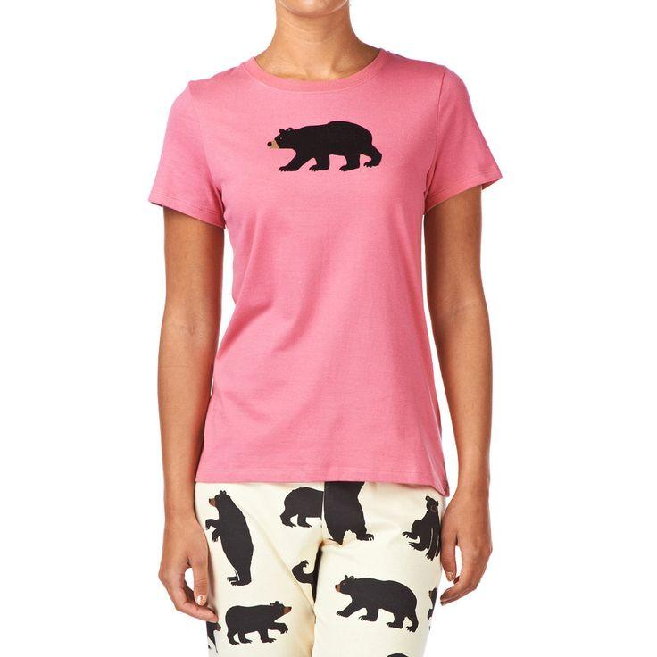 Hatley Pyjama Tops - Hatley Black Bears Pyjama Top - Pink