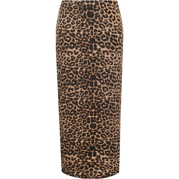 Mazie Leopard Maxi Skirt ($22) ❤ liked on Polyvore featuring skirts, brown, plus size, brown maxi skirt, leopard skirt, leopard print maxi skirt, elastic waist skirt and sexy skirt