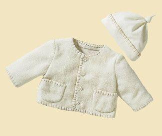 burda style, Schnittmuster für Babys - Jacke mit umstochenen Kanten, langen Ärmeln und aufgesetzten Taschen