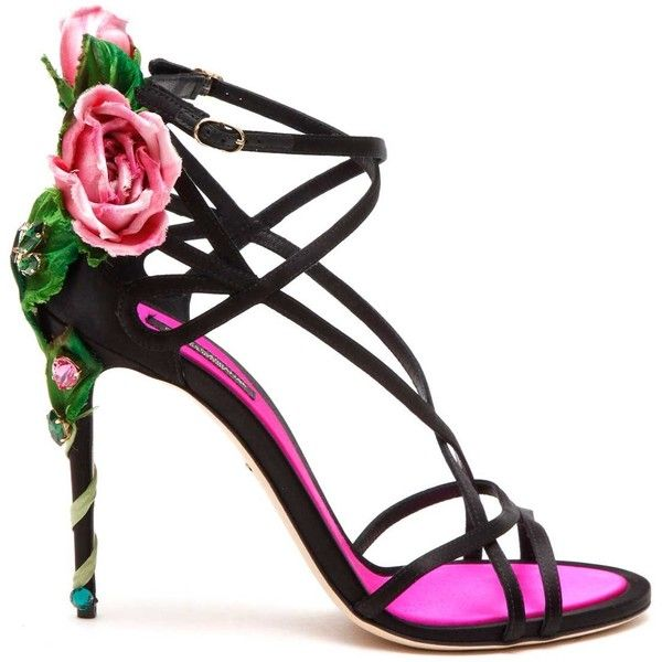 DOLCE & GABBANA Jewel Sandals With Embellishments (90.720 RUB) ❤ liked on Polyvore featuring shoes, sandals, embellished sandals, jewel shoes, jeweled sandals, embellished shoes and jewel sandals
