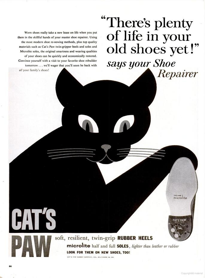 """CAT'S PAW - """"There's plenty of life in your old shoes yet!"""""""
