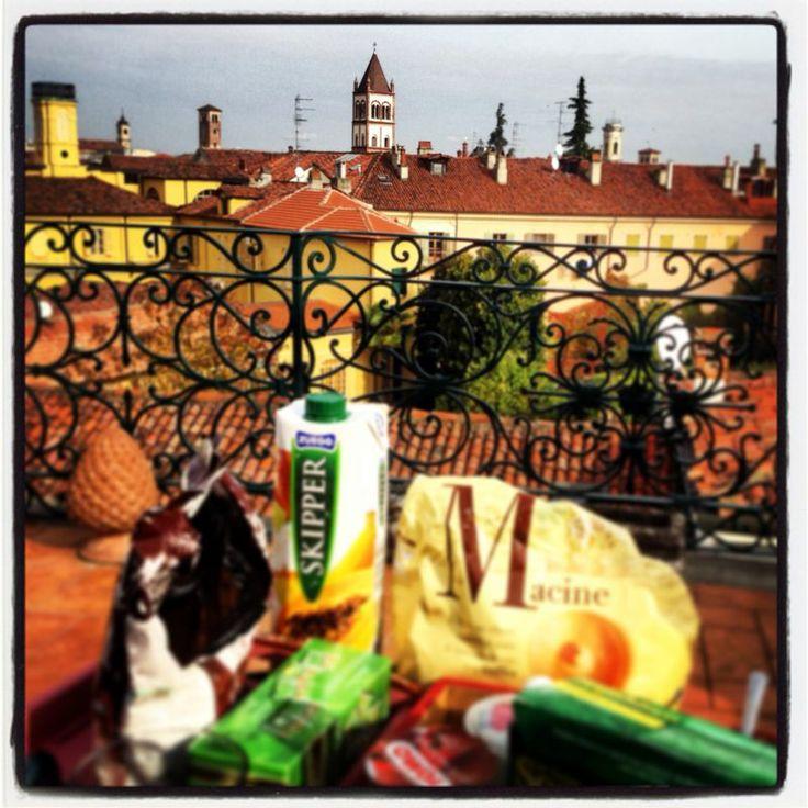 Domenica mattina, colazione in terrazzo...momento magico!