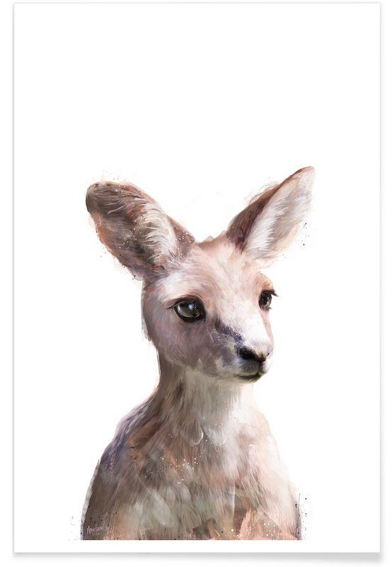 Little Kangaroo als Premium poster door Amy Hamilton | JUNIQE