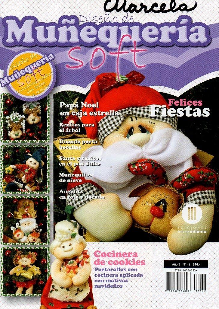 Revistas de manualidades Gratis: Muñecos soft navidad 2015