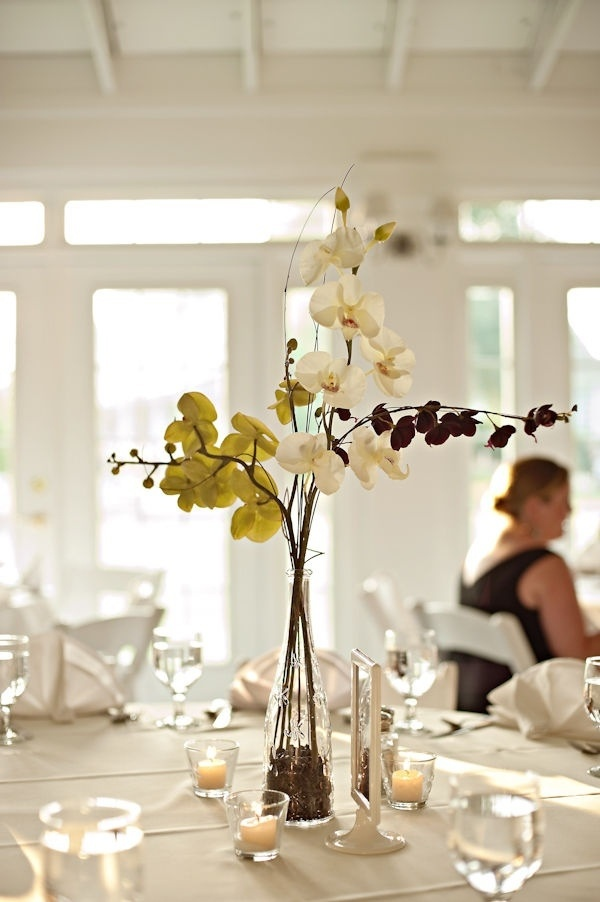 Orchid centerpiece flower arrangements pinterest