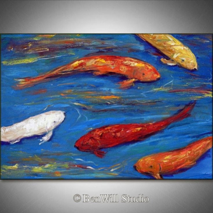 23 best images about fish paintins on pinterest acrylics for Colourful koi fish