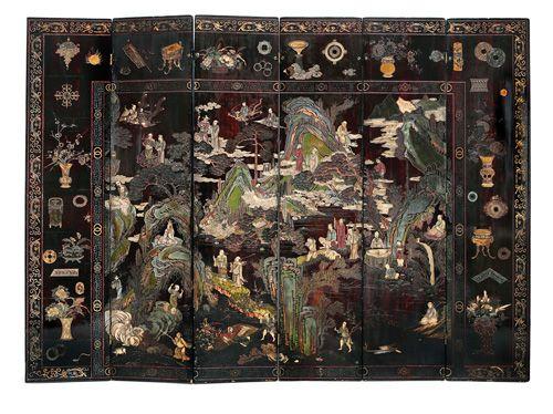 Las 25 mejores ideas sobre dinast a qing en pinterest ropa china pelo chino y moda china - Biombos chinos antiguos ...