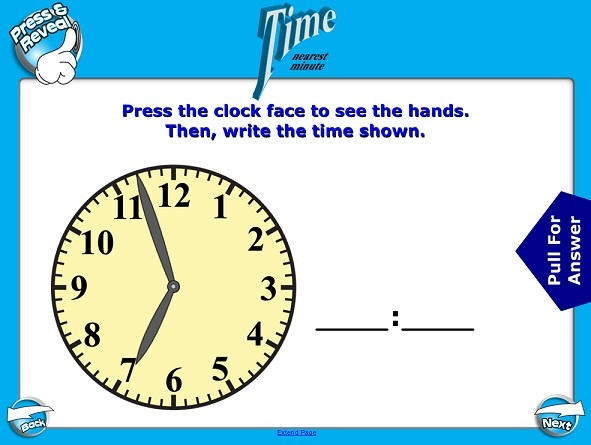 Teaching Time Clock Interactive Whiteboard