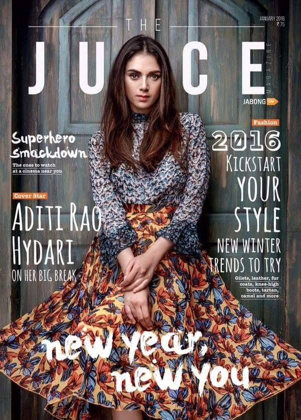 New Year... New You. #AditiRaoHydari on the cover of #Juice magazine. Jan'16 issue.   #magazinecover #bollywoodmagazines #celebritymagazine #bollywoodmagazinecover #magazine #magazineshoot #photooftheday #celebrity #photoshoot #bollywood  #bollywoodactress #actress #model #models #covergirl #bollywoodfasion #instafashion #fashion #style #stylish #followus #followme #filmywave