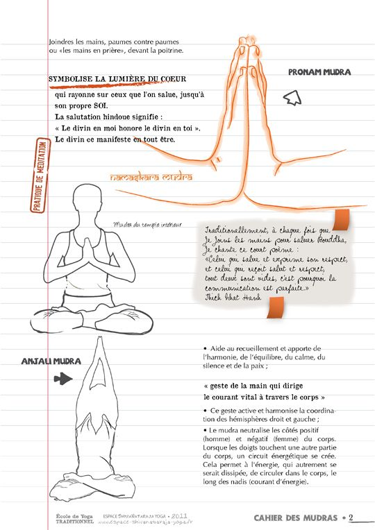 Pratique de mudra - École de yoga traditionnel