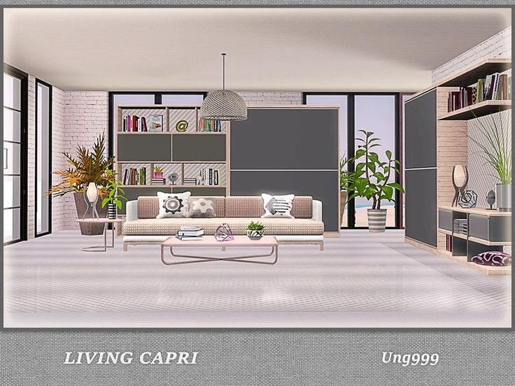 A Modern Living Room Set Includes The Following Items: Found In TSR  Category U0027Sims Part 42