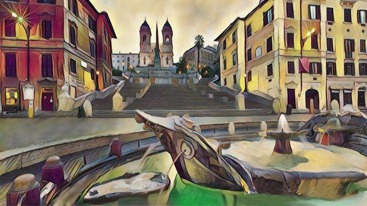 Roma alba a piazza di Spagna