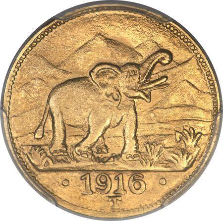 German East Africa, German East Africa: German Colony gold 15 Rupien 1916