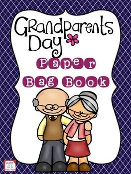 Grandparents Day Paper Bag Book! Fun craft for students to complete and give to their grandparents! Grandparents Day is September 7th.