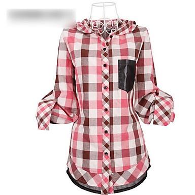 comprobación de tamaño grande de las mujeres blusa camisera – EUR € 31.75