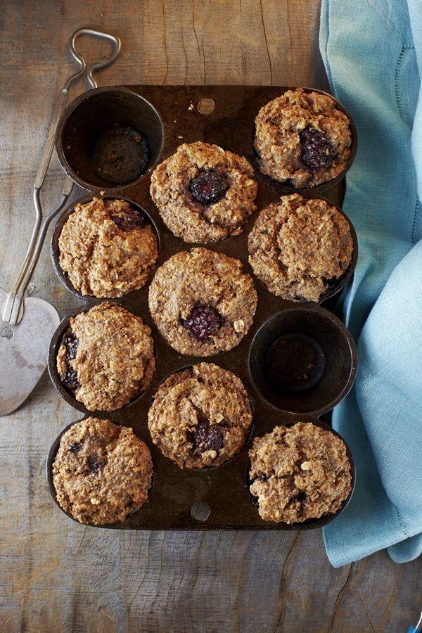 Amazing Wholesome Vegan Blackberry Bran Muffins Recipe - by Myra Goodman, co-founder of Earthbound Farm