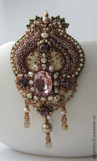 "Handmade brooches. Fair Masters - handmade brooch ""Mariam."" Handmade."
