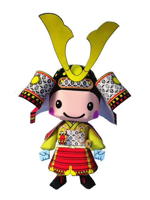 This is Tanngo, a cute Samurai paper toy  created by Japanese designer Bocchino Kaminoasobiba.  You will  need to print three sheets  of p...