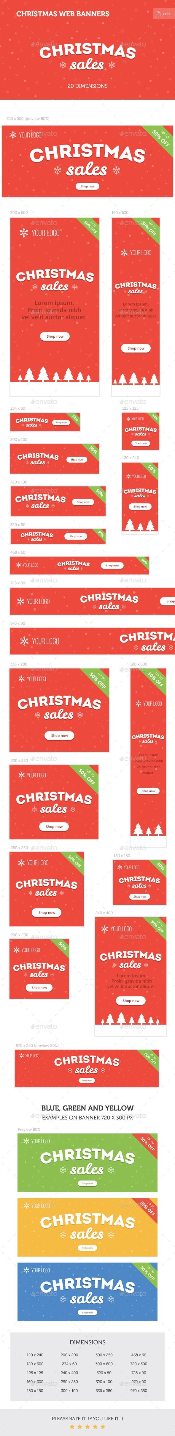 Christmas Web Banners Template PSD | Buy and Download: http://graphicriver.net/item/christmas-web-banners/9457850?WT.oss_phrase=&WT.oss_rank=376&WT.z_author=mir_design&WT.ac=search_thumb&ref=ksioks