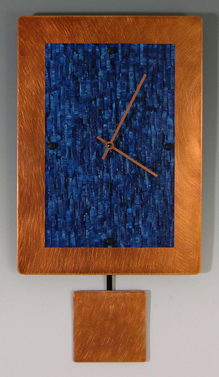 Copper Ocean Pendulum Clock by Linda Lamore