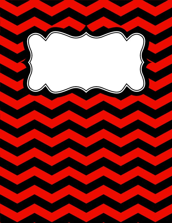 Free printable red and black chevron binder cover template. Download the cover in JPG or PDF format at http://bindercovers.net/download/red-and-black-chevron-binder-cover/