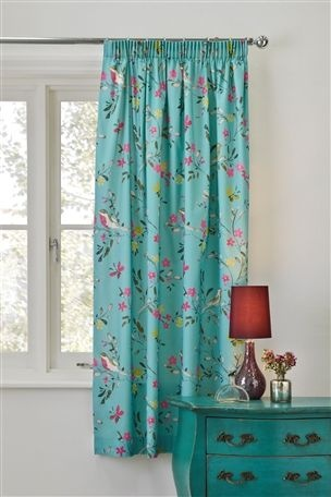 Buy Bright Bird Print Pencil Pleat Curtains From The Next