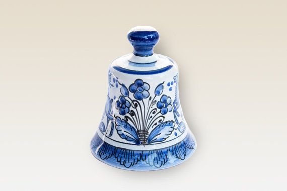 Bell. Ceramic Bell with blue Flower. Haban by HabanCeramic on Etsy, Ft3400.00