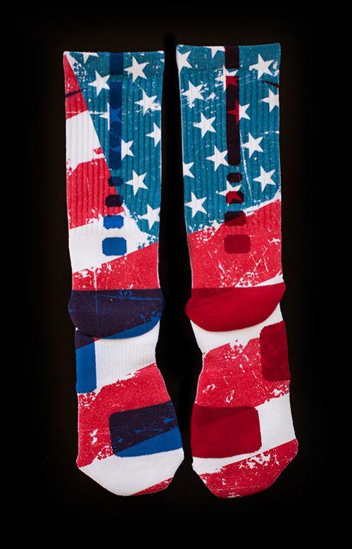 Thesockgame.com — Old Glory - Custom Nike Elite Socks