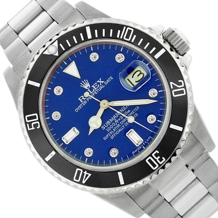 VINTAGE ROLEX 16610 SUBMARINER BLUE STAINLESS STEEL  MEN'S 7.50 WRIST WATCH #Rolex #LuxuryDressStyles