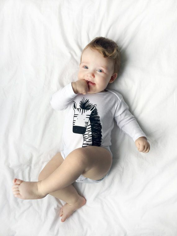 The Wild Modern Unisex Long Sleeve Baby One Piece