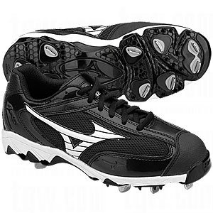 $64.95-$64.95 Mizuno Women\u0027s 9-Spike Swift FP Cleat,Black/White,