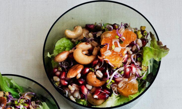 Nigel Slater's nuts recipes