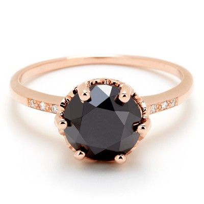 Hazeline Black Diamond Ring by Anna Sheffield Jewelry