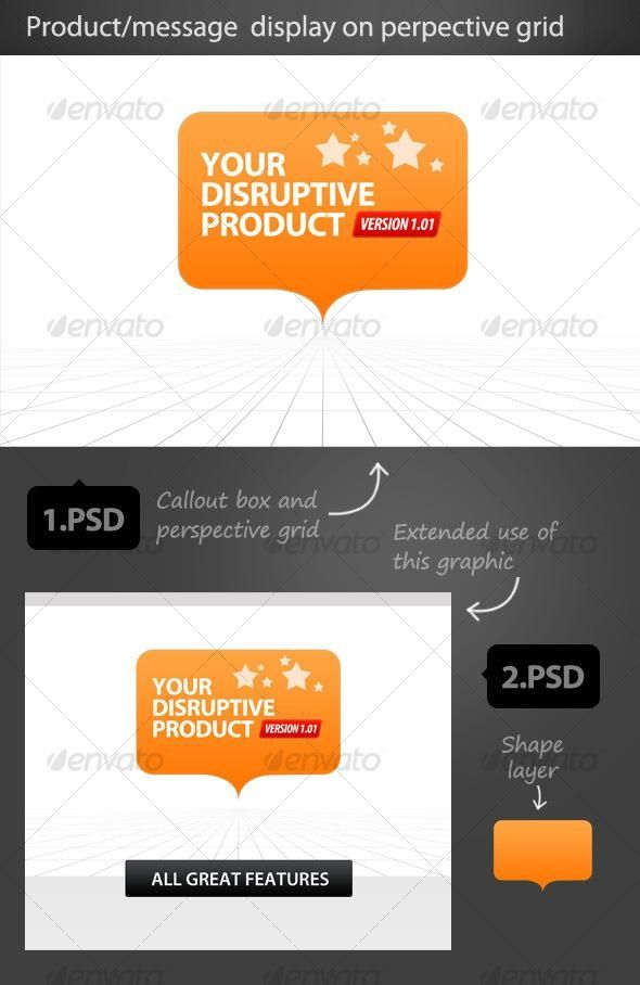 perspective grid with callout display bestdesignresources