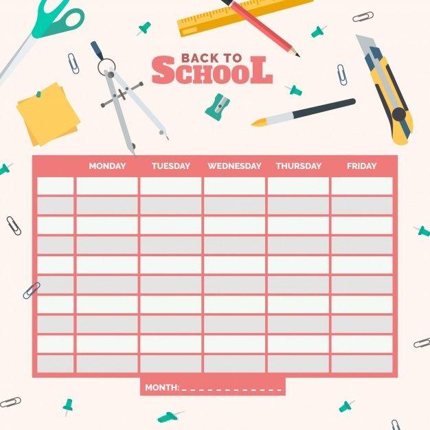 Weekly Class Time Table Template Buku Kliping Sekolah Buku