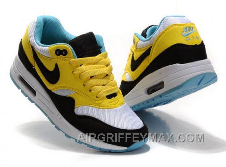http://www.airgriffeymax.com/womens-nike-air-max-87-shoes-white-black-yellow-cheap.html WOMEN'S NIKE AIR MAX 87 SHOES WHITE/BLACK/YELLOW CHEAP Only $94.90 , Free Shipping!