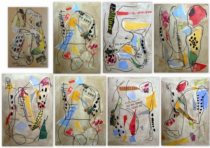 Collages d'après Gaston Chaissac