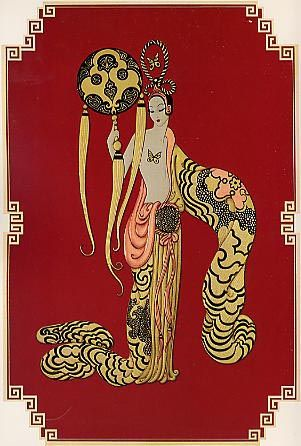 Asian Princess , Erte Art Deco