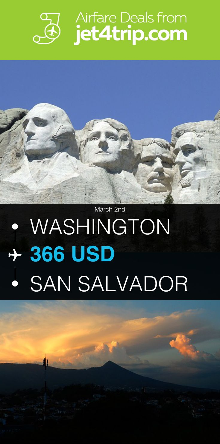 Flight from Washington to San Salvador for $366 by United Airlines #travel #ticket #deals #flight #WAS #SAL #Washington #San Salvador #UA #United Airlines
