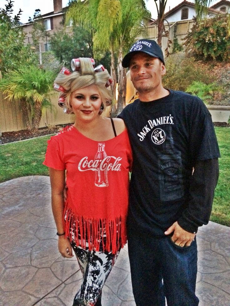 Jack and Coke Costume, Couple Costume idea, Coke-a-Cola, Jack Daniels, Halloween…