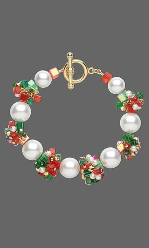 Bracelet with Glass Pearls, Celestial Crystal® Beads and Swarovski® Crystal Beads