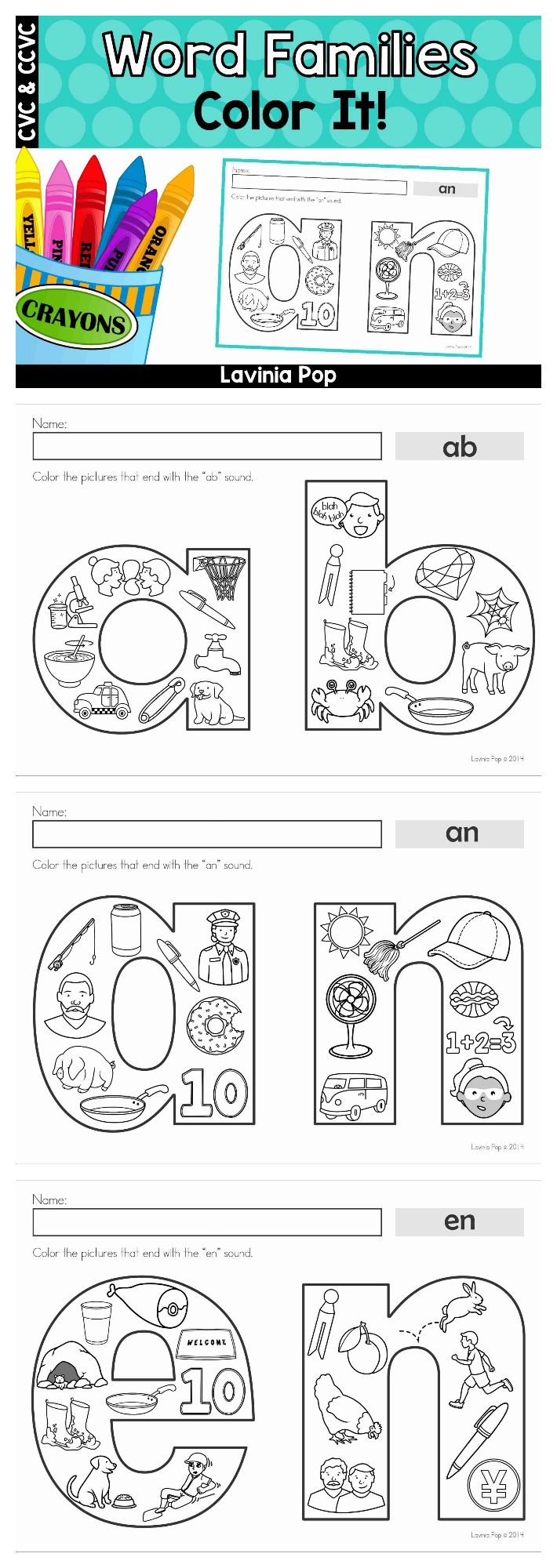 Worksheet U Family Words 1000 ideas about word families on pinterest family color it children the pictures that belong to focus family